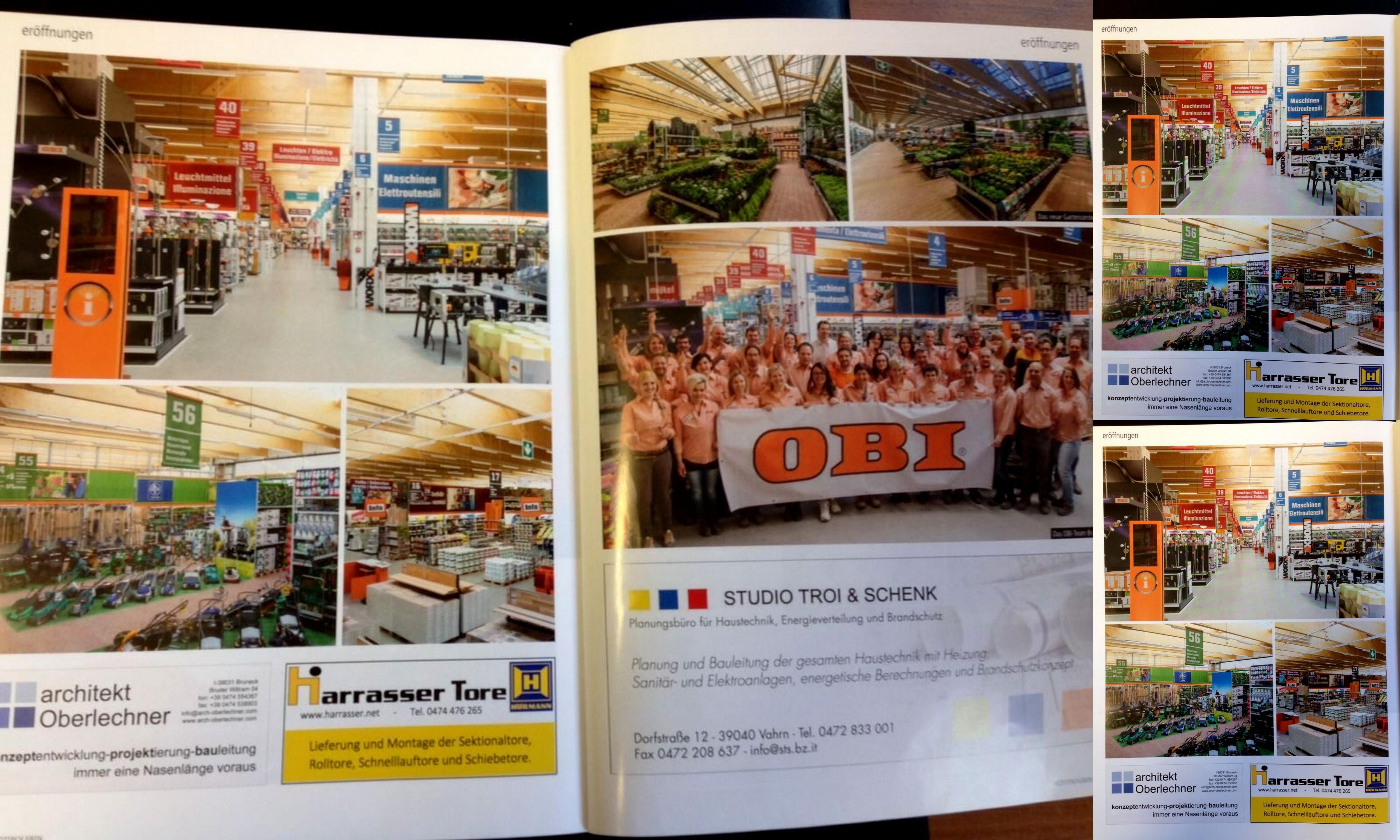 Werbung in der dolomiten tageszeitung ff wochenmagazin for Kellerfenster obi